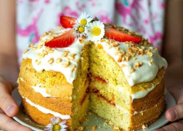 Mohn-Zitronen-Torte