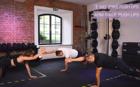 Arm Raise Push Ups