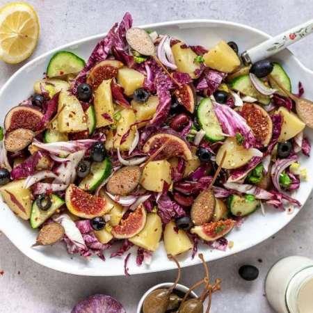 Kartoffelsalat mit Capern und Pfeigen