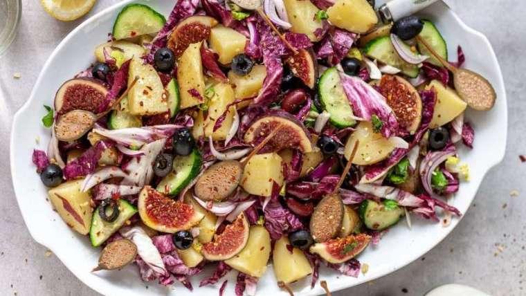 Kartoffelsalat mit Kapern und Feigen