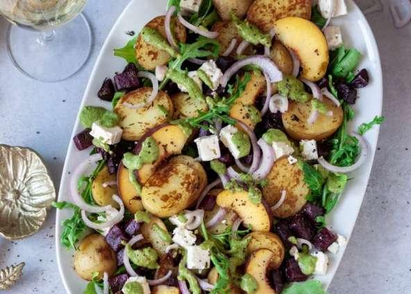 Gebratener Rote Bete-Rucola Salat