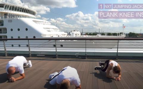 Plank Knee to Elbow Kristofer